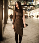 FAIIINT, Outfit, Fashion, Blogger, Dress, DIY, Handmade, Plaited, Twisted, Rouched, Gathered, Draped, Asymmetric, Nude, Black, Mesh, Silk, Jersey, Bracher Emden, Geo, Clutch, StylistPick, Eleonora, Boots, Velvet, Night, Street, Style, Ligia Dias, Necklace