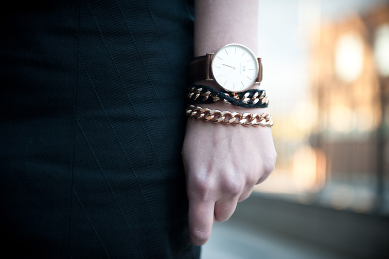 FAIIINT, Daniel Wellington, Watch, Leather, Ligia Dias, Chain, Necklace, Bracelet, Details, Fashion, Blogger
