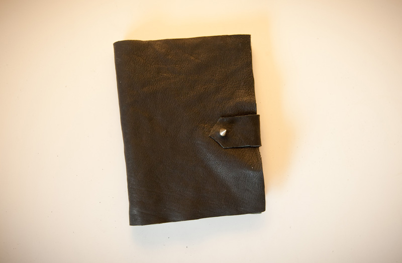 Leather, Notebook, Cover, Book, DIY, No Sew, Hermes, Ulysse