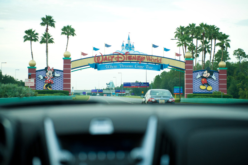 Walt Disney World, Disney, Disneyland, Florida, Sign, Entrance, Parks, Driving,
