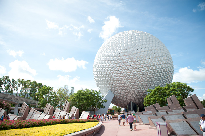 Epcot, Walt Disney, Disney, Disneyland, Florida, Disney World, Golf Ball, Spaceship Earth, Theme Park, Enterance, Future World