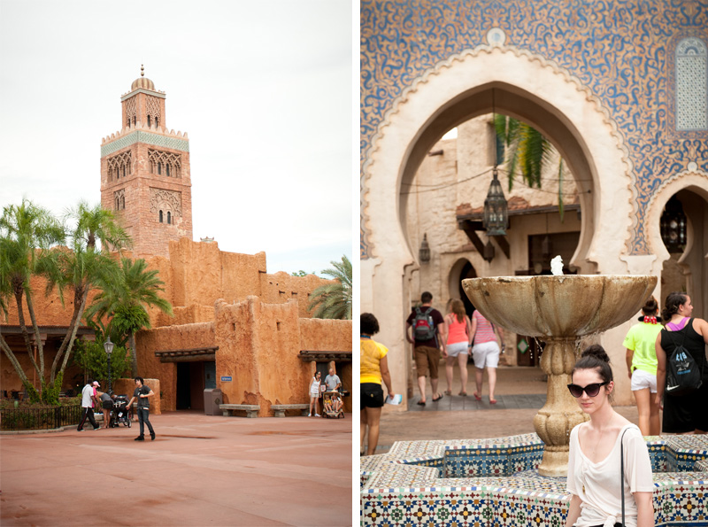 Epcot, Disneyland, Disney, Walt Disney, Florida, Disney World, World Showcase, Morocco, Mosaic, Fountain