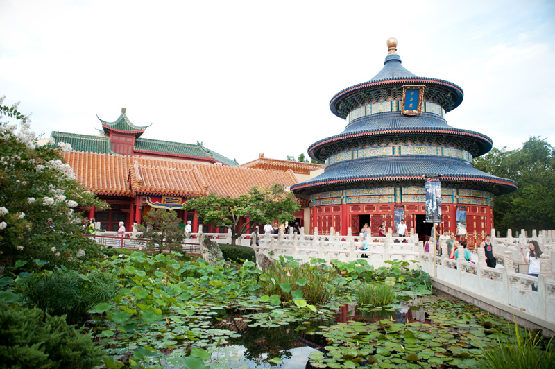 Epcot, Disneyland, Disney, Walt Disney, Florida, Disney World, World Showcase, China, Chinese, Architecture, Garden, Lily Pads