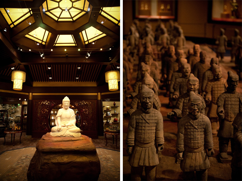 Epcot, Disneyland, Disney, Walt Disney, Florida, Disney World, World Showcase, China, Buddha, Buddhist, Terracotta Army, Replica, Shrine, Chinese