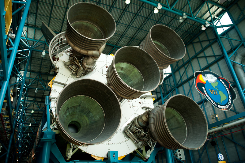 Kennedy Space Center, Cape Canaveral, Florida, Rocket, Space, Shuttle, NASA, Engine, Apollo, Saturn V