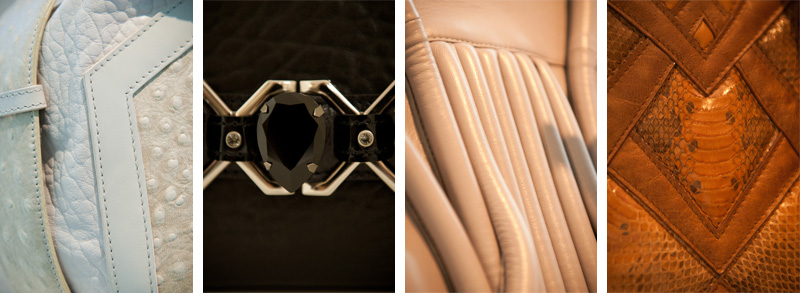Bracher Emden, Black, Bags, Handbags, Tote, Unique, Handmade, Textured, Quilted, Bora Aksu, Leather, Jewel, Gem, Diamante, Swarovski, Crystal, Close Ups, Details, Textures