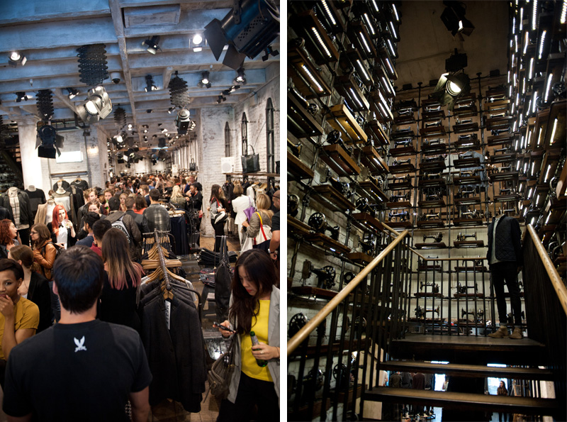 All Saints, Fashion's Night Out, FNO, 2012, Store, Autumn Winter, Party, Sewing Machines, Interior, Shopping, Shoppers