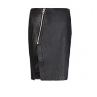 AllSaints Leather Zip Lucille Skirt