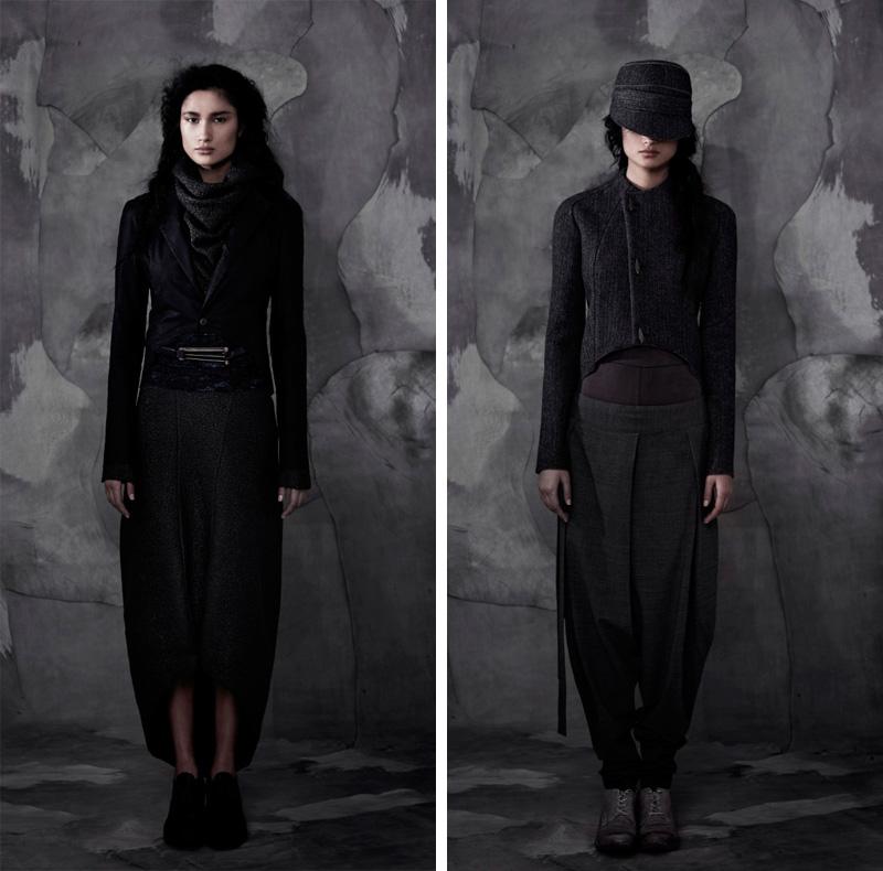 InAisce Autumn Winter 2013 Womens Lookbook. Dark style, gothic, raw, organic, tailoring.