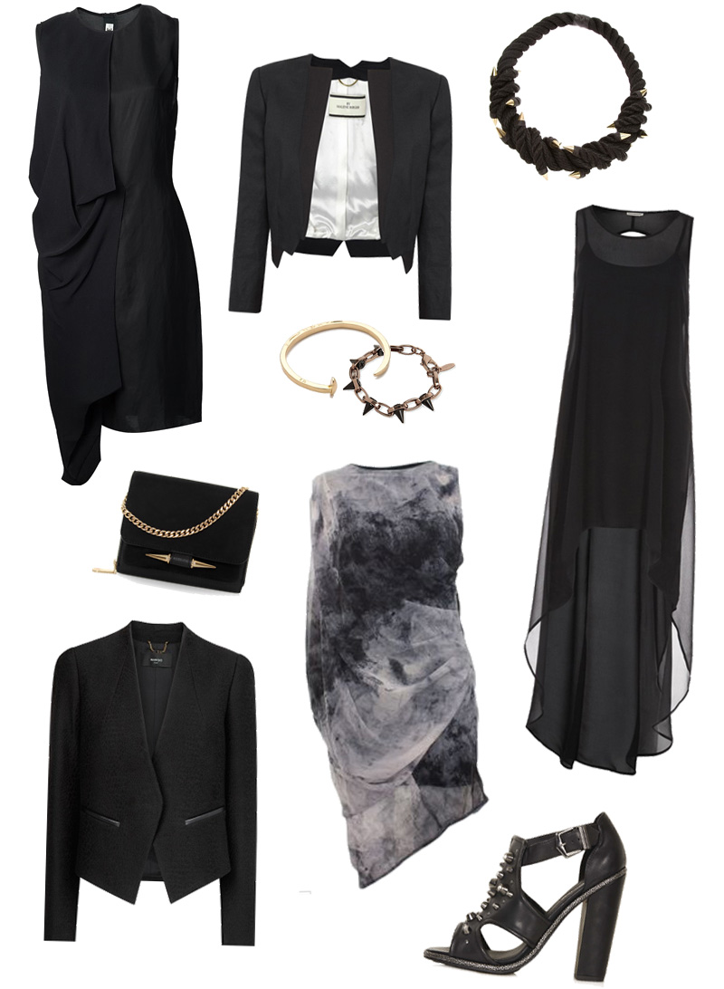 FAIIINT Wishlist Christmas Party Dark Style Black Draped & Tailored Outfit