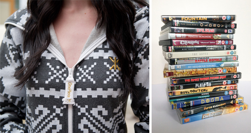 FAIIINT lazy outfit OnePiece onesie, favourite movies