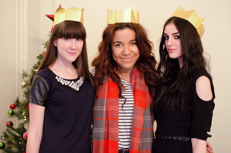 Next Christmas fashion blogger afternoon tea at Browns Hotel London, Tara from The Style Rawr, Becca from Fashion Train, Stephanie from FAIIINT