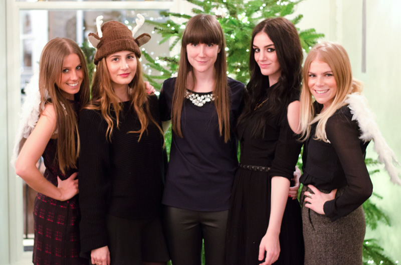 Next Christmas fashion blogger afternoon tea at Browns Hotel London, Gemma, Tara from The Style Rawr, Claudia from Pink Manolos, Stephanie from FAIIINT, Ellie