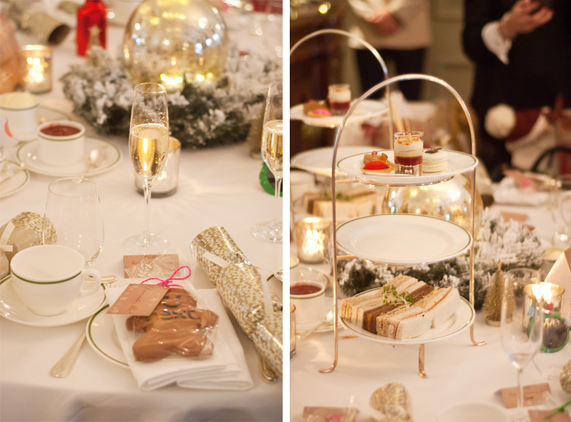 Next Christmas fashion blogger afternoon tea at Browns Hotel London, cakes, sandwiches, scones, champagne, gingerbread