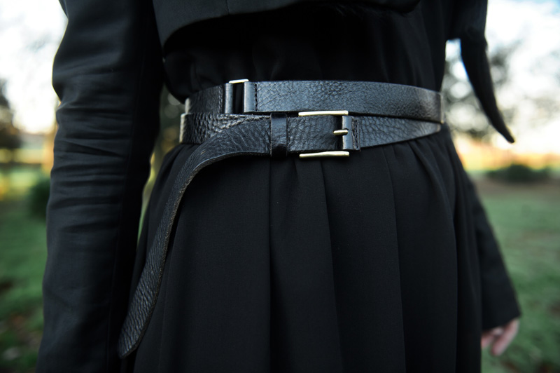 FAIIINT ASOS Leather Double Wrap Belt Detail