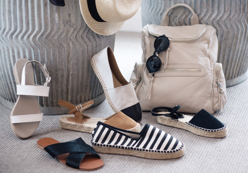 Next New In ss14 fashion blogger party press day party event. Nautical inspired sandals shoes, bags & straw hat.