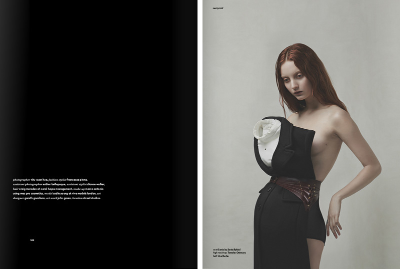 Sleepwalker fashion editorial by Nhu Xuan Hua featuring Codie Young for Nasty Magazine