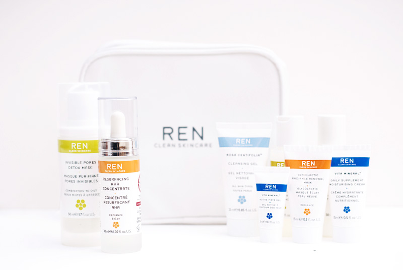 REN Skincare Marks and Spencer Beauty Discovery Event. Resurfacing AHA Concentrate, Invisible Pores Detox Mask & Discovery Kit.