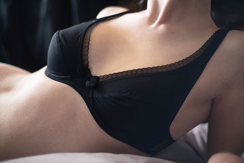 FAIIINT Princesse Tam Tam lingerie Espionne soft cup underwired black bra with frilled edges. Fashion blogger.