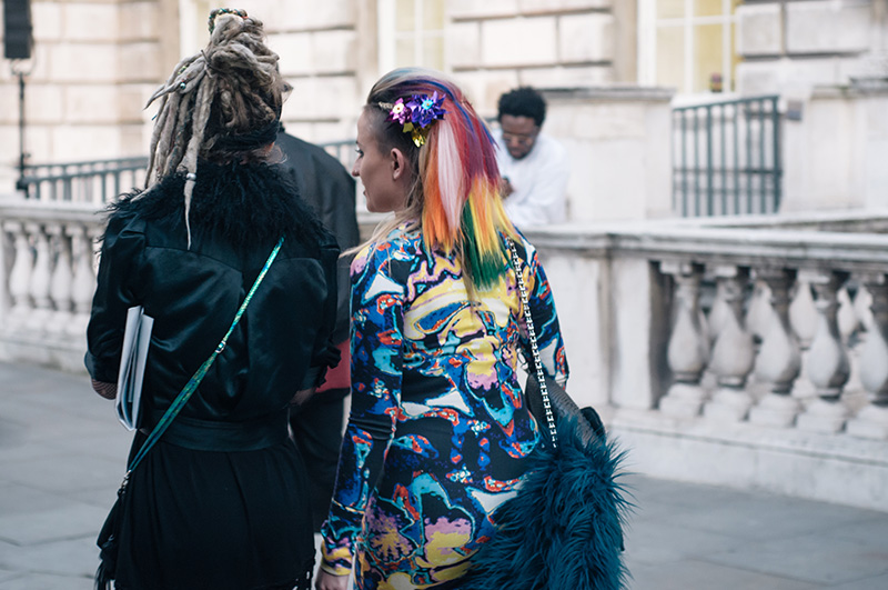 London Fashion Week Spring Summer 2015 Somerset House Street Style