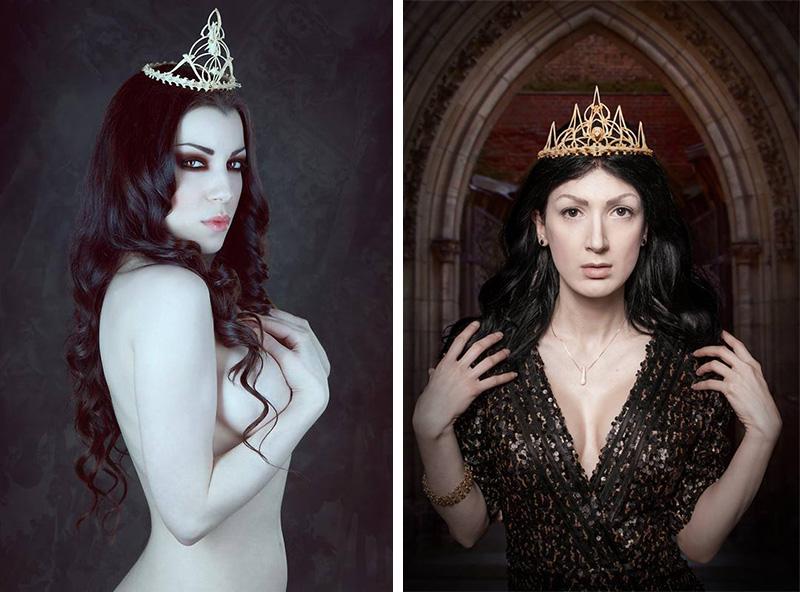 Memento Mori bone crown tiara taxidermy gothic