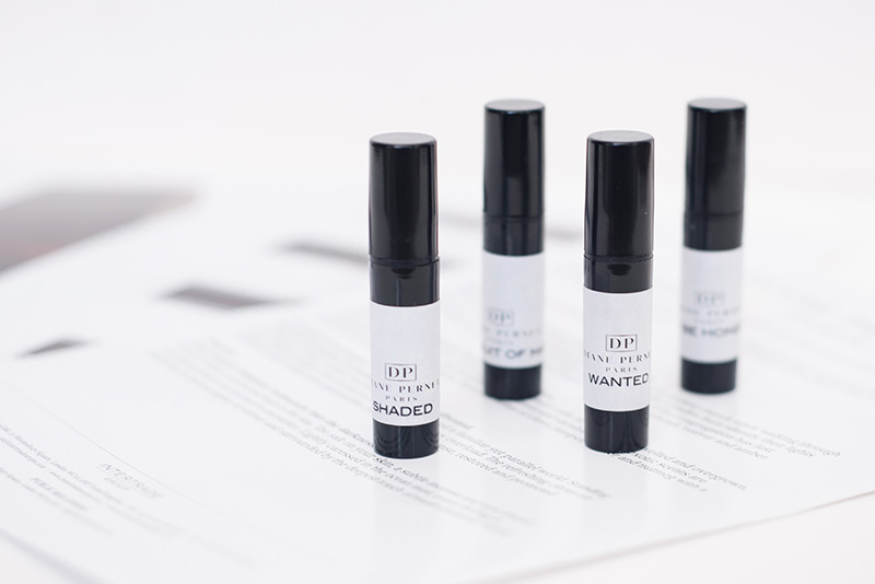 FAIIINT Diane Pernet Fragrances at Liberty London perfume samples Shaded, Wanted, To Be Honest & In Pursuit of Magic.