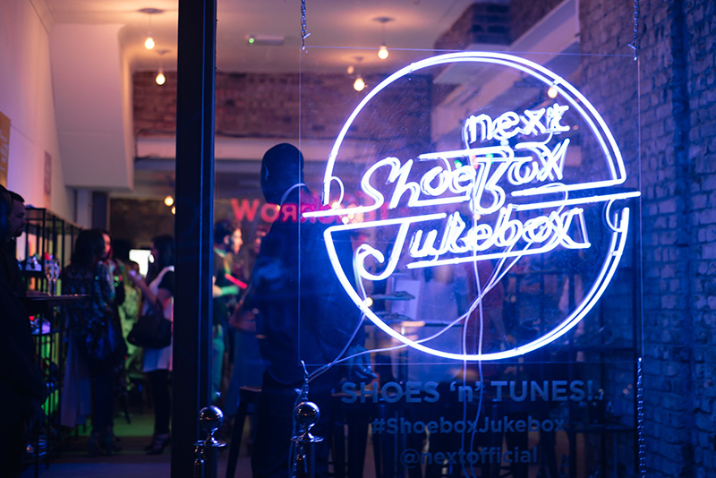 FAIIINT at Next #shoeboxjukebox fashion blogger event shoes party with Company Magazine