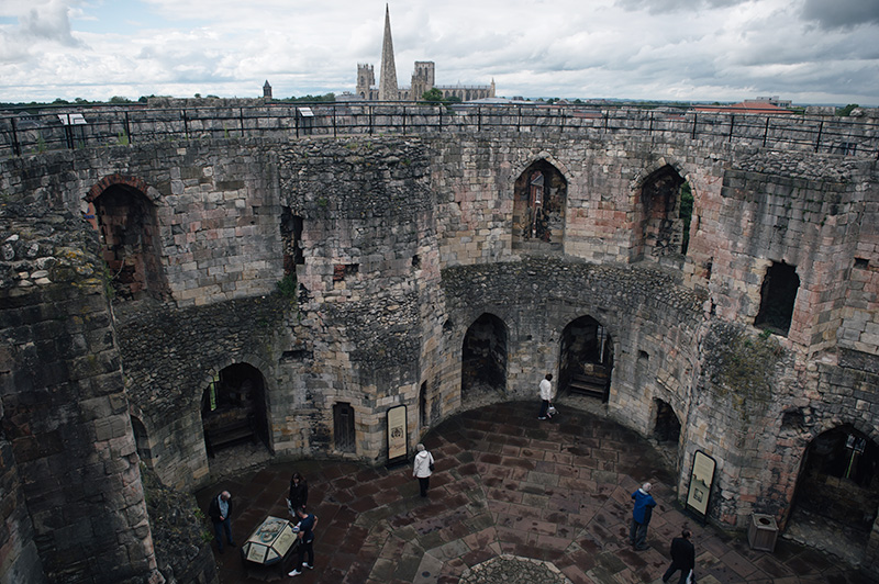 FAIIINT York weekend break. Panoramic views of York city centre & York Minster from the top of Clifford's Tower.