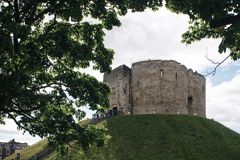 FAIIINT York weekend break. Clifford's Tower, ruins of York Castle.