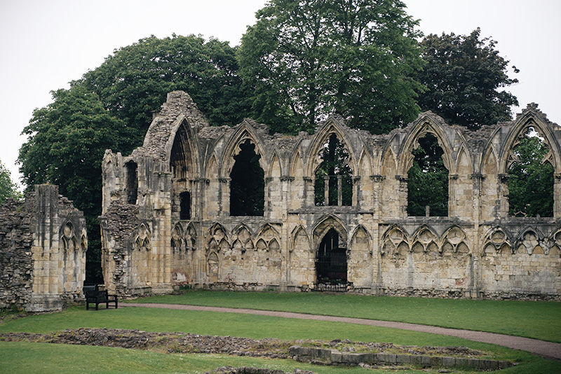 FAIIINT York weekend break. Yorkshire Museum gardens & ruins of St. Mary's Abbey.