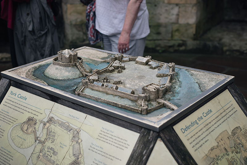 FAIIINT York weekend break. Model of what once was Clifford's Tower & York Castle.