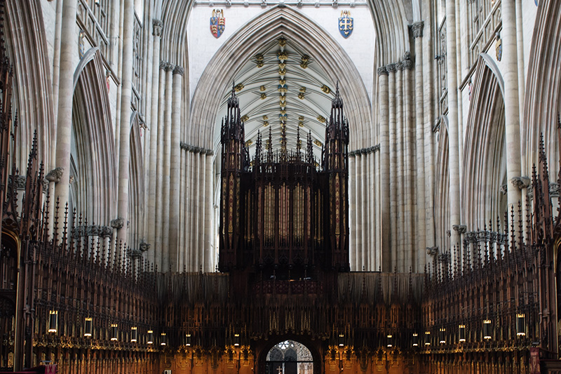 FAIIINT York weekend break. York Minster Cathedreal Choir screen.