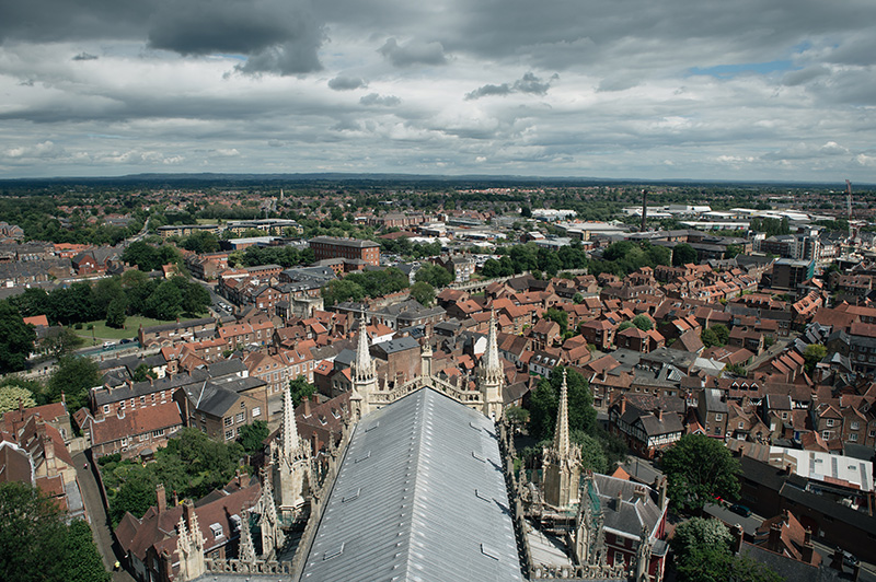 FAIIINT York weekend break. York Minster Cathedreal view of York from the central tower.