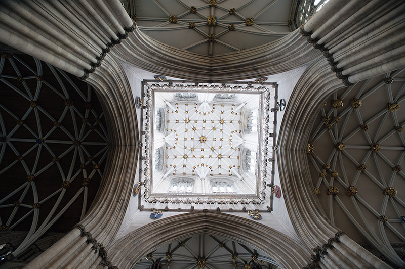 FAIIINT York weekend break. York Minster Cathedreal ceiling.