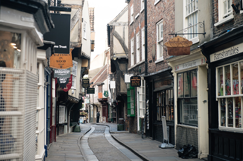 FAIIINT York weekend break. The Shambles street in York.