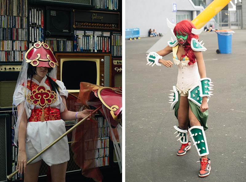 FAIIINT Hyper Japan Festival 2015 at The o2 London. Female girl Bowser cosplay costume.