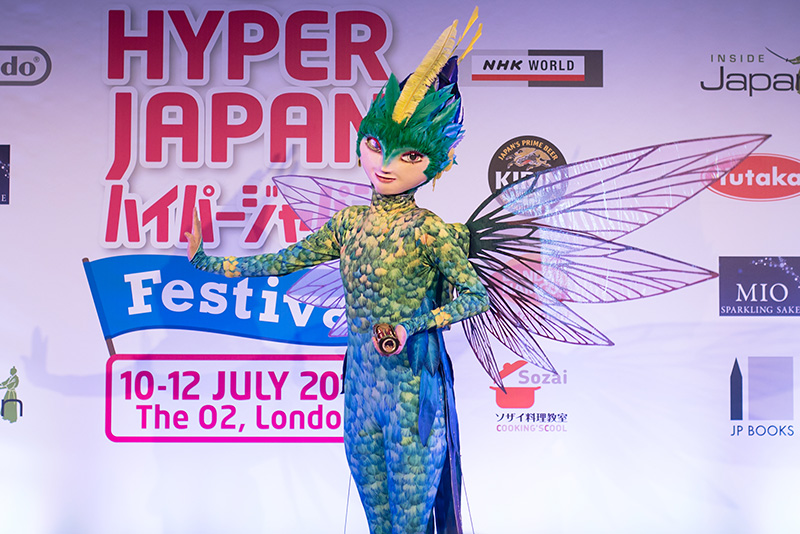 FAIIINT Hyper Japan Festival 2015 at The o2 London. Toothania Tooth Fairy Rise of the Guardians cosplay costume.