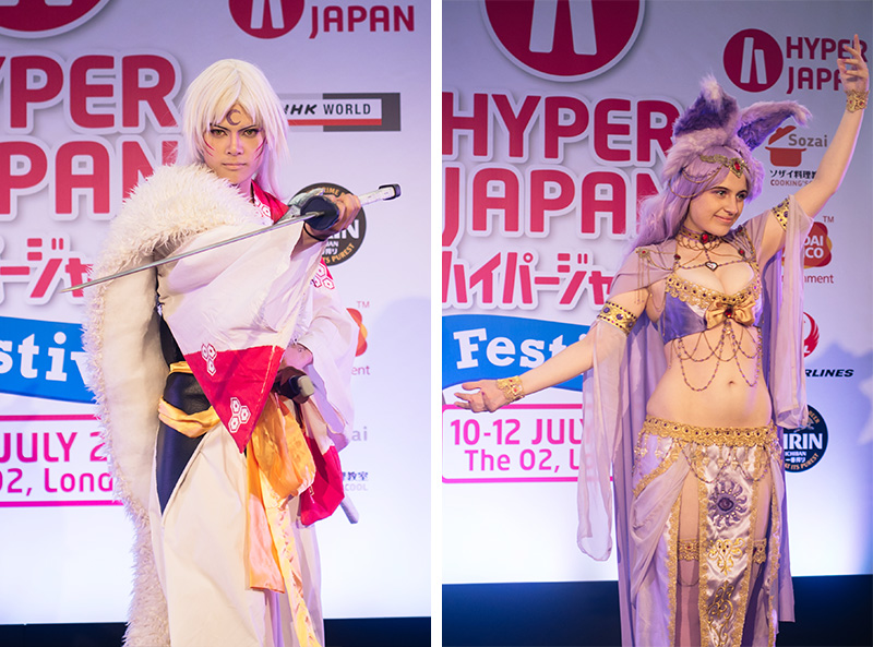 FAIIINT Hyper Japan Festival 2015 at The o2 London. Espeon Pokemon cosplay costume.