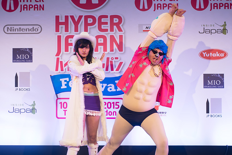 FAIIINT Hyper Japan Festival 2015 at The o2 London. Franky and Nico Robin One Piece cosplay costumes.