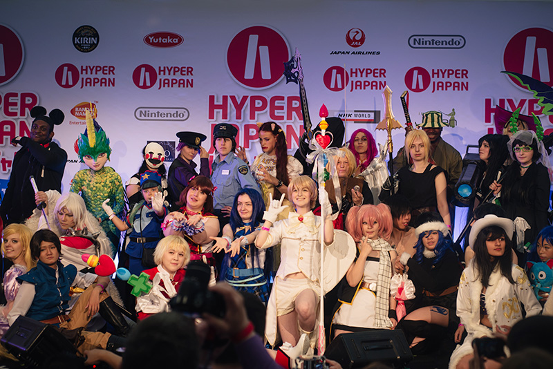 FAIIINT Hyper Japan Festival 2015 at The o2 London. Cosparage cosplay costumes.