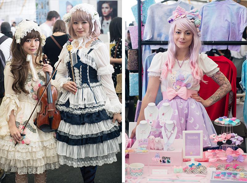 FAIIINT Hyper Japan Festival 2015 at The o2 London. Elegant Lolita and pastel fairy kei fashion.
