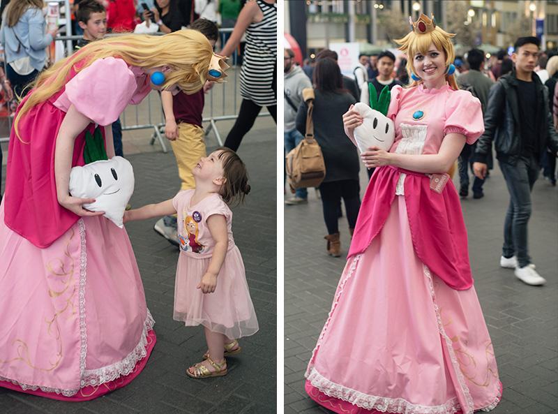 FAIIINT Hyper Japan Festival 2015 at The o2 London. Princess Peach cosplay costume.