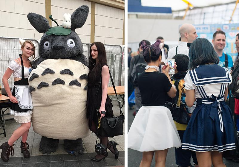 FAIIINT Hyper Japan Festival 2015 at The o2 London. V Cosplay Totoro realistic costume, school girls, sailor fuku.