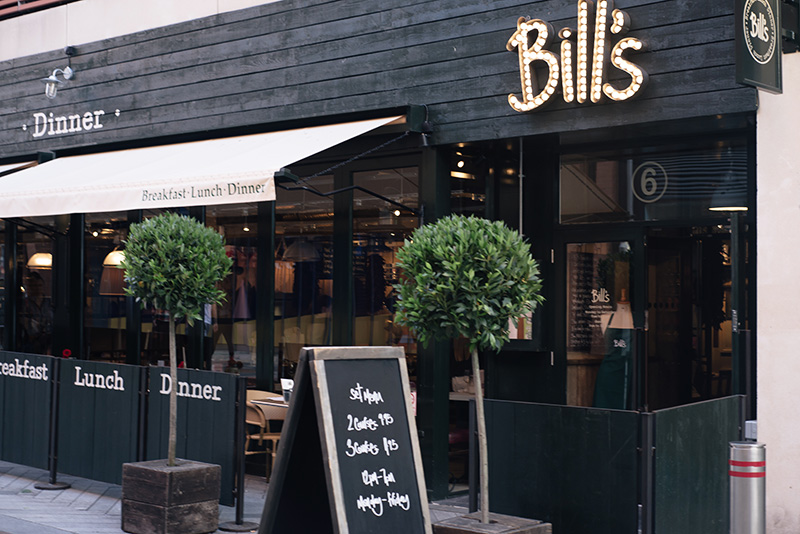 FAIIINT Bill's Restaurant at Highcross Leicester.