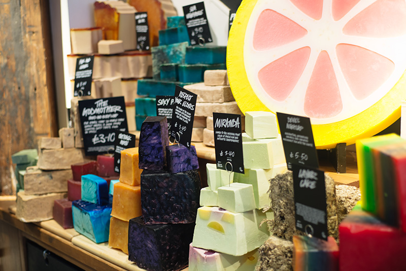 FAIIINT Lush Leicester store soaps