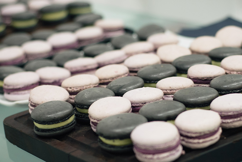 Artist of Makeup by Zukreat at Femi Health & Beauty salon Leicester. Macarons by Macarons and More.
