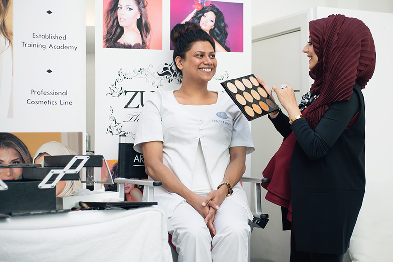 Artist of Makeup by Zukreat at Femi Health & Beauty salon Leicester. Make up Demo by Zukreat.
