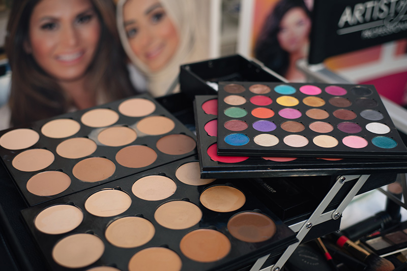 Artist of Makeup by Zukreat at Femi Health & Beauty salon Leicester. Palettes.