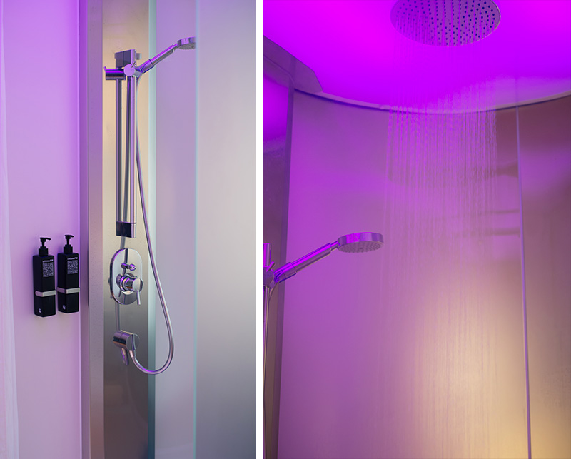 Citizen M Hotel Glasgow Room with Rainfall Shower.