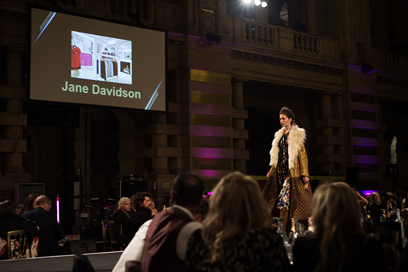 FAIIINT Scottish Style Awards 2015 at Kelvingrove art gallery and museum in Glasgow. Catwalk show Jane Davidson.